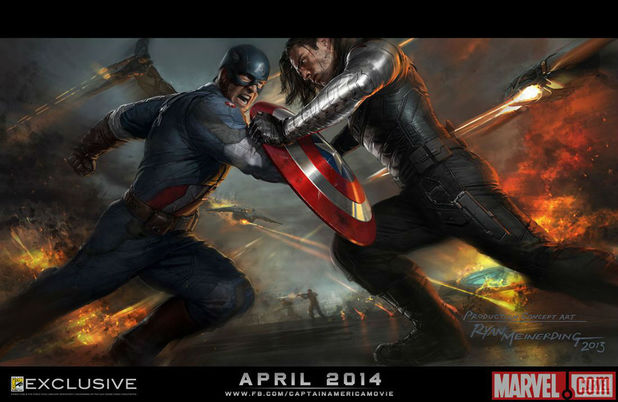 Первый мститель: Другая война. Постер